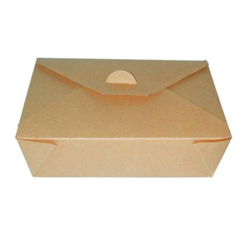 PacknWood Paper Kraft Meal Box - 50 oz - 210BIO3K
