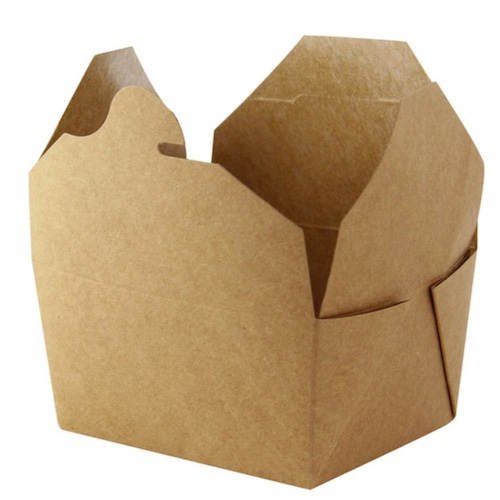 PacknWood Paper Kraft Meal Box - 34 oz - 210BIO2K