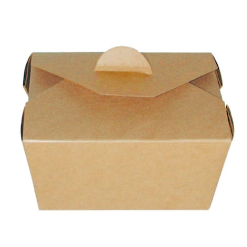 PacknWood Paper Kraft Meal Box - 22 oz - 210BIO1K