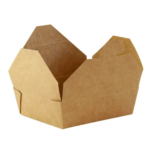 PacknWood Paper Kraft Meal Box - 8 oz - 210BIOKMINI