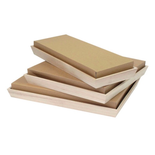 "PacknWood Paper Kraft Lid for Heavy Duty Tray - 17"" x 13"" - 210NOAHLID39"