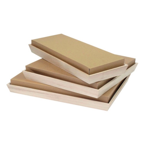 "PacknWood Paper Kraft Lid for Heavy Duty Tray - 13.75"" x 13.75"" - 210NOAHLID31"