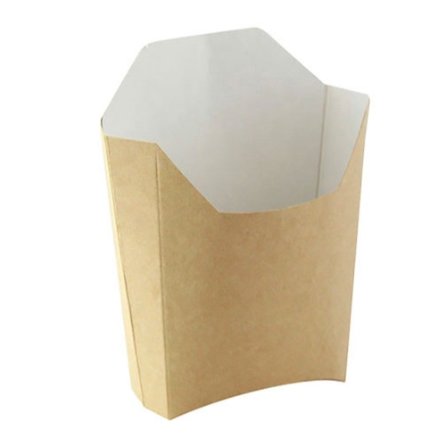 "PacknWood Paper Kraft French Fry Pail - 5.3"" x 4.5"" x 7.1"" - 210PFMBRUN"