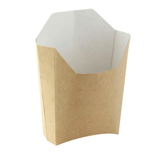 "PacknWood Paper Kraft French Fry Pail - 4.7"" x 3.7"" x 4.9"" - 210PFBRUN"