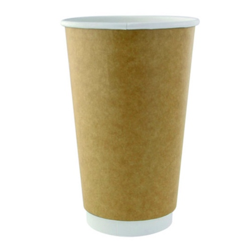 PacknWood Paper Kraft Double Wall Cup - 20 oz - 210GCDW20K