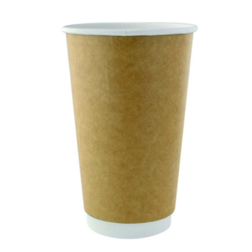 PacknWood Paper Kraft Double Wall Cup - 16 oz - 210GCDW16K