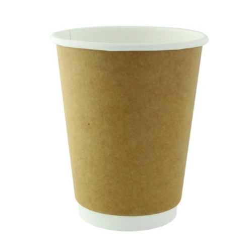PacknWood Paper Kraft Double Wall Cup - 12 oz - 210GCDW12K