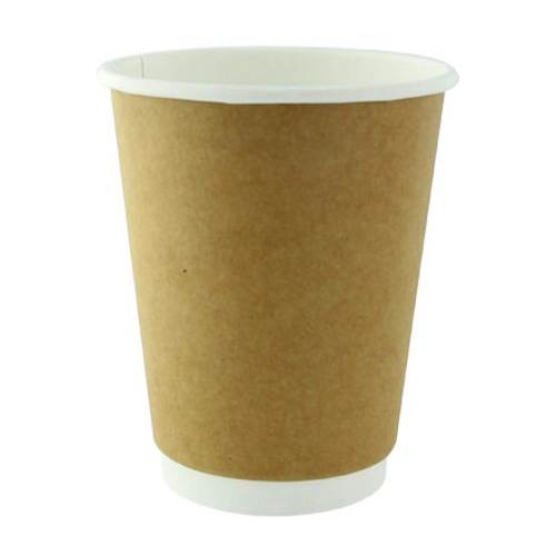 PacknWood Paper Kraft Double Wall Cup - 10 oz - 210GCDW10K