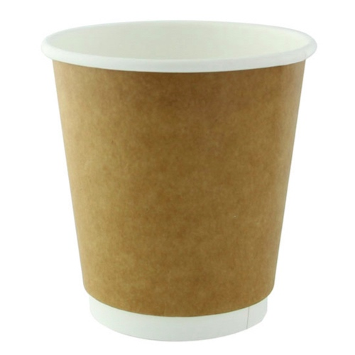 PacknWood Paper Kraft Double Wall Cup - 8 oz - 210GCDW8K