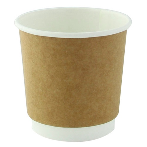 PacknWood Paper Kraft Double Wall Cup - 4 oz - 210GCDW4K