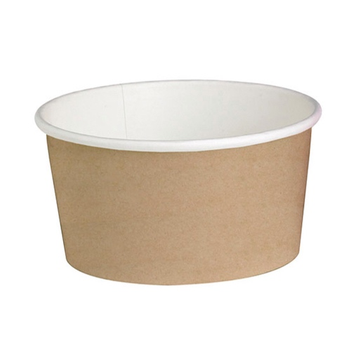 "PacknWood Paper Kraft Deli Container - 20 oz - 4.49"" - 210DELIPOC20"