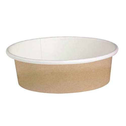"PacknWood Paper Kraft Deli Container - 12 oz - 4.49"" - 210DELIPOC12"