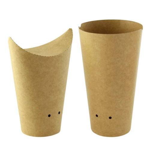 PacknWood Paper Kraft Closable Snack Cup - 14 oz - 210TPASK20K