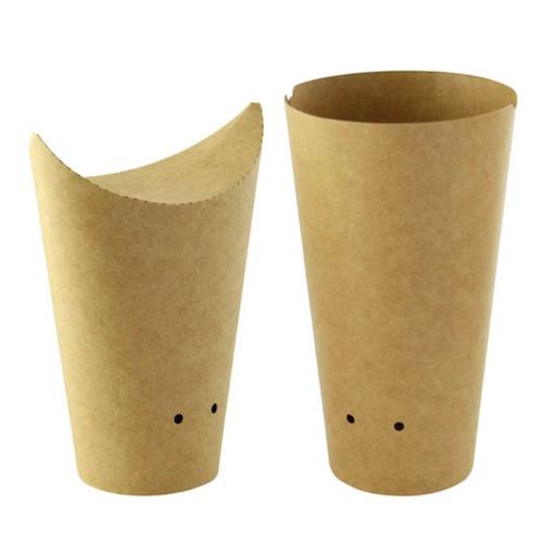 PacknWood Paper Kraft Closable Snack Cup - 14 oz - 210TPASK20K