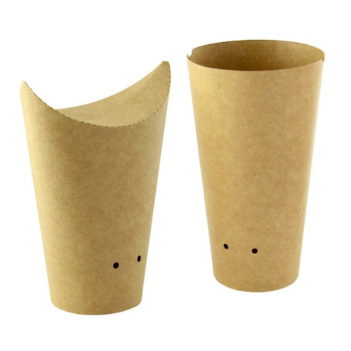 PacknWood Paper Kraft Closable Snack Cup - 10 oz - 210TPASK16K