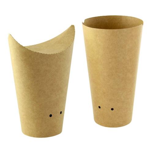PacknWood Paper Kraft Closable Snack Cup - 8 oz - 210TPASK12K