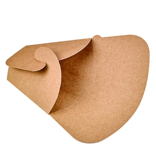 "PacknWood Paper Kraft Crepe Holder - 5.9"" x 7.25"" - 210CREPKR"