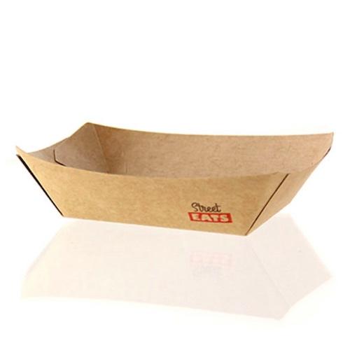 """PacknWood Paper Kraft Boat - 4.5 lb - 9.5"""" x 7"""" x 2.1"""" - 210BQKEAT6"""