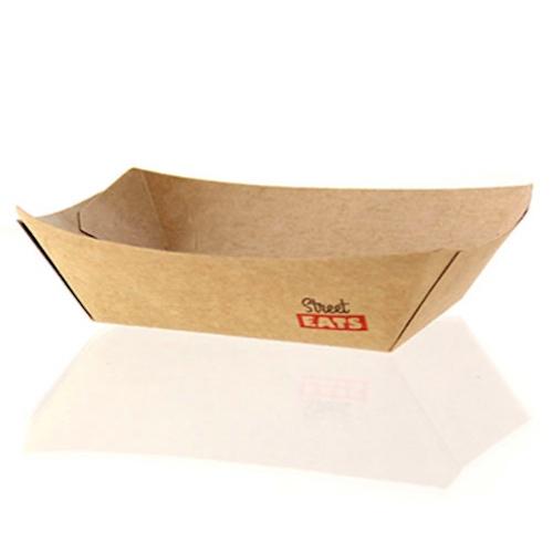 """PacknWood Paper Kraft Boat - 3 lb - 8.7"""" x 5.7"""" x 1.4"""" - 210BQKEAT5"""