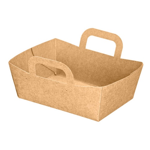 PacknWood Paper Kraft Basket - 9 oz - 210CPANIER