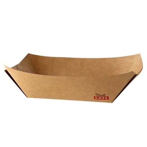 """PacknWood Paper Kraft Boat - 2 lb - 6.7"""" x 4.7"""" x 1.6"""" - 210BQKEAT4"""