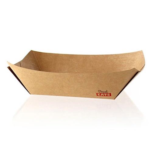 """PacknWood Paper Kraft Boat - 1 lb - 6.3"""" x 4.4"""" x 1.6"""" - 210BQKEAT3"""