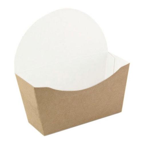 "PacknWood Paper Kraft Bagel Box - 4.7"" x 1.7"" x 4.7"" - 210CBAGL"