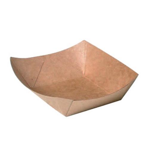 """PacknWood Paper Kraft Boat - 0.25 lb - 4.5"""" x 3.2"""" x 1.1"""" - 210BQKEAT1"""