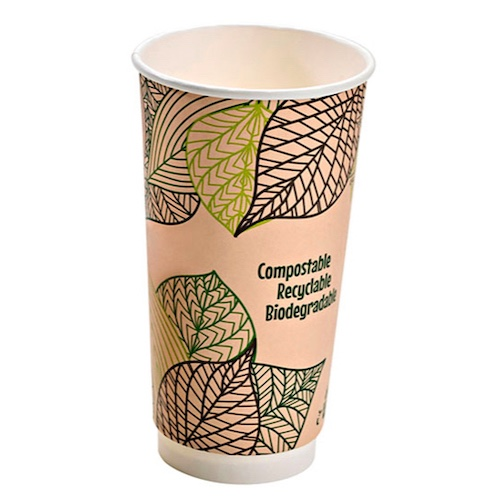 PacknWood Paper Design Double Wall Cup - 20 oz - 210GCDW20