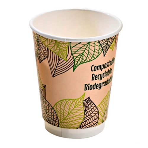 PacknWood Paper Design Double Wall Cup - 16 oz - 210GCDW16