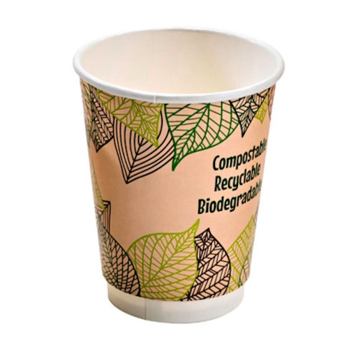 PacknWood Paper Design Double Wall Cup - 10 oz - 210GCDW10