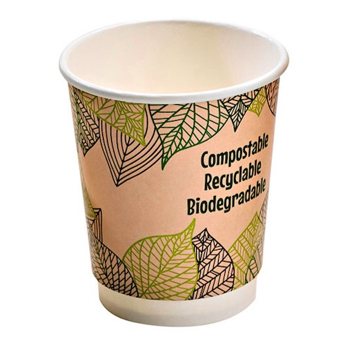PacknWood Paper Design Double Wall Cup - 8 oz - 210GCDW8