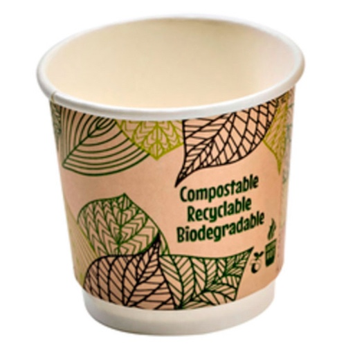 PacknWood Paper Design Double Wall Cup - 4 oz - 210GCDW4