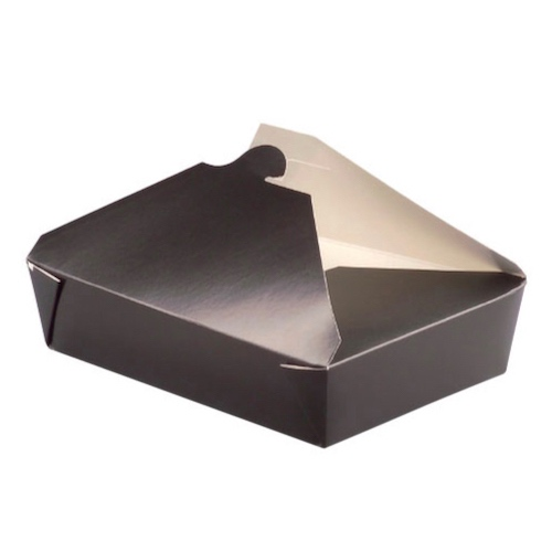 PacknWood Paper Black Meal Box - 78 oz - 210BIO4N