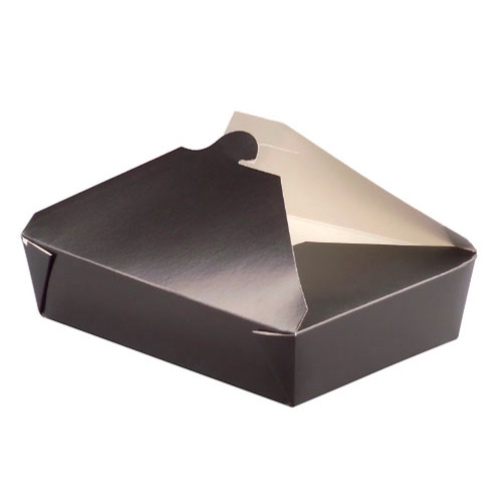 PacknWood Paper Black Meal Box - 36 oz - 210BIO3N