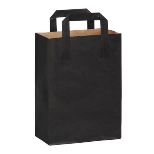 "PacknWood Paper Black Bag Handle - 6.85"" x 3.7"" x 8.9"" - 210MCABN"