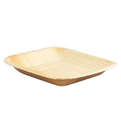 "PacknWood Palm Leaf Square Round Corner Plate - 6.3"" - 210BBA1717"