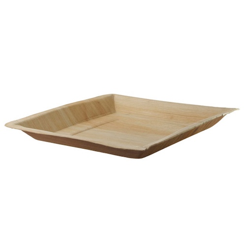 "PacknWood Palm Leaf Square Plate - 10"" - 210BBA2424"