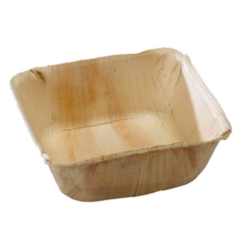 "PacknWood Palm Leaf Square Bowl - 16 oz - 5"" - 210BBA1313"