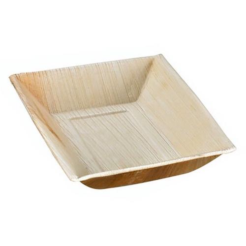 """PacknWood Palm Leaf Slant Edge Plate - 7"""" x 5"""" - 210BBA1217"""