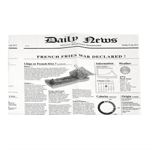 "PacknWood Greaseproof News Print Paper - 10.6"" x 13.8"" - 2CHPAPNEWSBL"