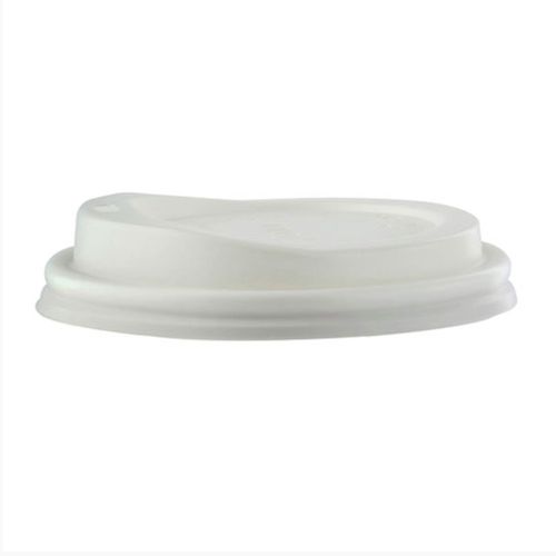 "PacknWood CPLA Flat Lid for Cup - 10-20 oz - 3.5"" - 210LGDW16"