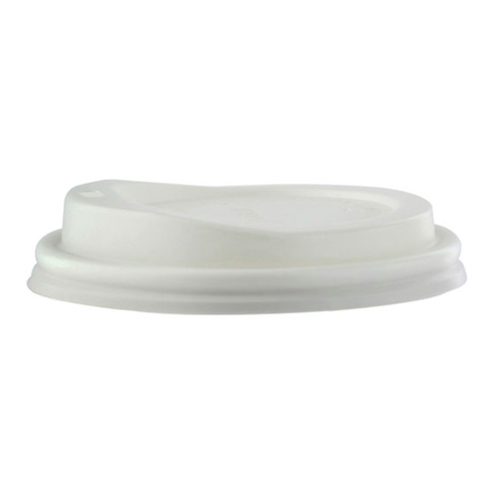 "PacknWood CPLA Flat Lid for Cup - 8 oz - 3.1"" - 210LGDW8"