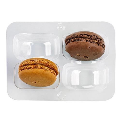 "PacknWood Clip Closure 4 Macaron Insert - 4.3"" x 3"" - 210MACINS4"