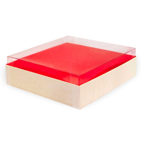 "PacknWood Clear Lid for Wood Box - 6.3"" x 6.3"" - 210SAMLID160"