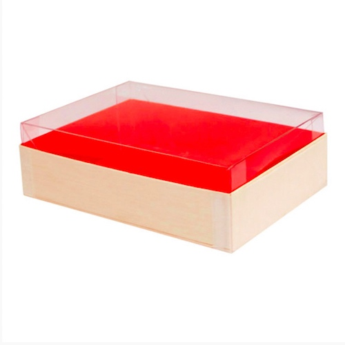 "PacknWood Clear Lid for Wood Box - 4.7"" x 6.4"" - 210SAMLID120"
