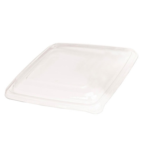 "PacknWood Clear Flat Lid for Square Plate - 9.25"" - 210APOPL1000"
