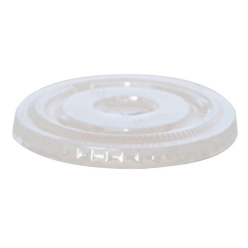 PacknWood Clear Flat Lid for Souffle Portion Cup - 2 oz - 209POPETL2