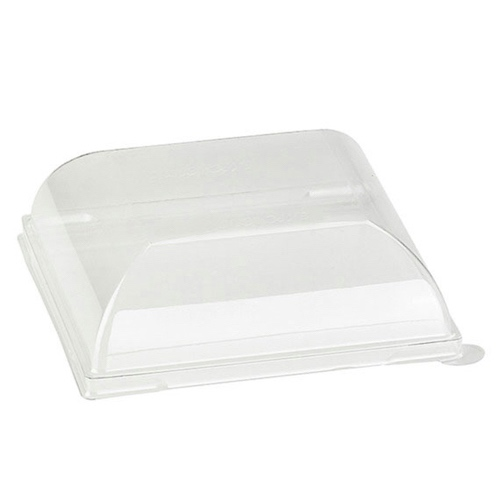 "PacknWood Clear Dome Lid for Square Plate - 4.3"" - 210BCHICL1212"