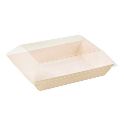PacknWood Clear Dome Lid for Samurai Tray - 16 oz - 210SAMLT130